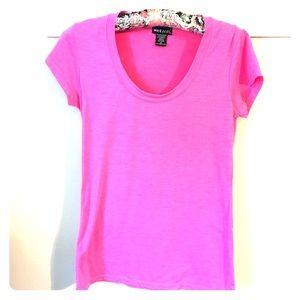 Wet Seal U neck hot pink T-shirt